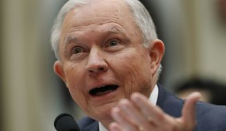 Attorney General Jeff Sessions testifies during a House Judiciary Committee hearing on Capitol Hill, Tuesday, Nov. 14, 2017, in Washington. (AP Photo/Carolyn Kaster)