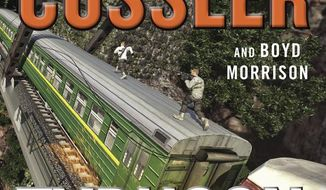 """This cover image released by Putnam shows """"Typhoon Fury,"""" a novel by Clive Cussler and Boyd Morrison. (Putnam via AP)"""