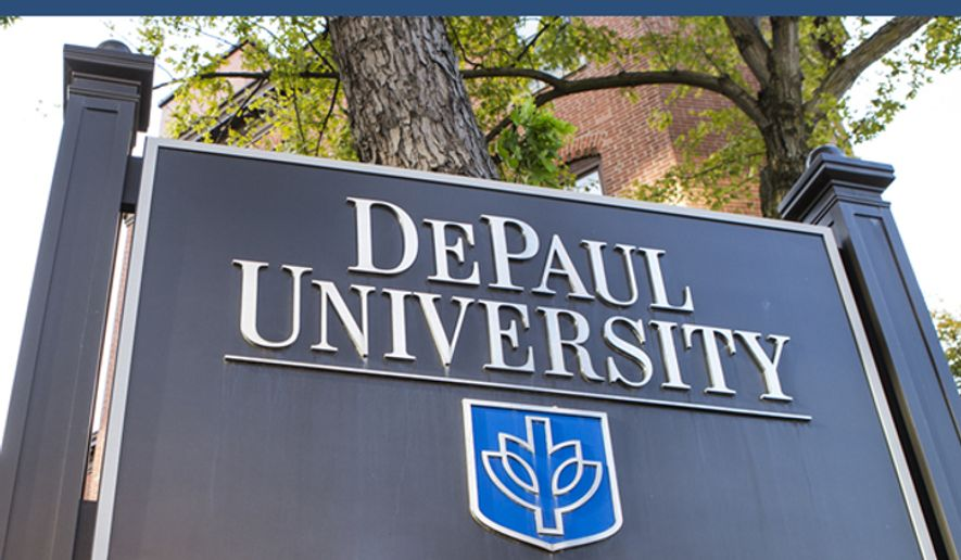 DePaul University sign, image via university website. (DePaul University) [https://offices.depaul.edu/human-resources/PublishingImages/depaul-announcement.jpg]