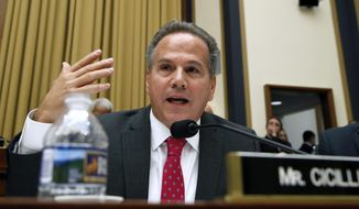 Rep. David Cicilline, D-R.I., questions Attorney General Jeff Sessions during a House Judiciary Committee hearing on Capitol Hill, Tuesday, Nov. 14, 2017, in Washington. (AP Photo/Alex Brandon) ** FILE **