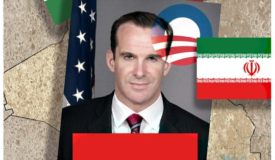 Illustration on Brett McGurk by Alexander Hunter/The Washington Times
