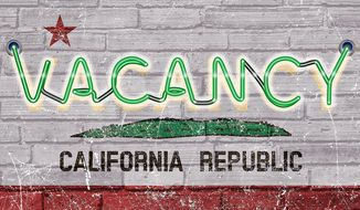 Vacancies in California Illustration by Greg Groesch/The Washington Times