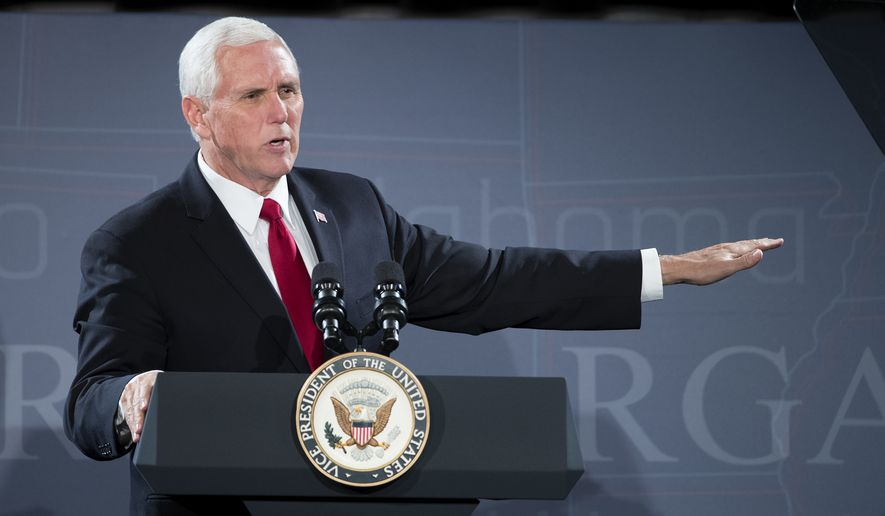 Vice President Mike Pence speaks to a gathering of Republican governors in Austin, Texas, Wednesday, Nov. 15, 2017, at the J.W. Marriott. (Ricardo B. Brazziell/Austin American-Statesman via AP) ** FILE **