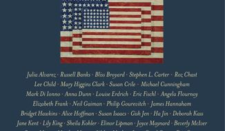 "This cover image released by Touchstone shows, ""It Occurs to Me That I Am America,"" a collection of stories supporting the American Civil Liberties Union, to be released on Jan. 16. (Touchstone via AP)"