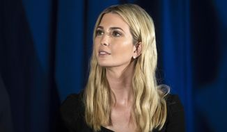 White House adviser Ivanka Trump listens to Treasury Secretary Steve Mnuchin speak in Bayville, N.J., Monday, Nov. 13, 2017. Ivanka Trump is putting it all on the line for the Republican tax overhaul. Signaling a new stage in her Washington career, the senior White House adviser recently hit the road to sell the plans that have drawn Democratic criticism and spurred some GOP conflict. (AP Photo/Matt Rourke)