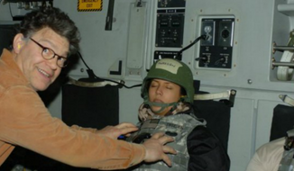 Leeann Tweeden posted this picture of herself, sleeping, with Al Franken.