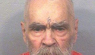This Aug. 14, 2017 photo provided by the California Department of Corrections and Rehabilitation shows Charles Manson. A spokeswoman for the California Department of Corrections and Rehabilitation says the 83-year-old mass killer is alive Thursday, Nov. 16, 2017. (California Department of Corrections and Rehabilitation via AP)