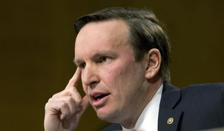 Sen. Chris Murphy, Connecticut Democrat, is shown during a committee hearing on Capitol Hill in Washington on Jan. 11, 2017. (Associated Press) ** FILE **