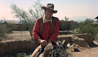 "John Wayne starring in ""El Dorado."""