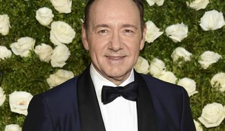 """In this June 11, 2017 file photo, Kevin Spacey arrives at the 71st annual Tony Awards at Radio City Music Hall in New York. Mr. Spacey is accused of sexual misconduct or assault by at least 24 men. London police are reportedly investigating a sexual assault. He was fired from """"House of Cards"""" and replaced in Ridley Scott's completed film """"All the Money in the World."""" His former publicist has said he is seeking unspecified treatment. (Photo by Evan Agostini/Invision/AP, File)"""