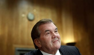 FILE - In this Oct. 22, 2009, file photo, former Homeland Security Secretary Tom Ridge testifies on Capitol Hill in Washington, before the Senate Homeland Security and Governmental Affairs Committee hearing on policy czars. Ridge was in critical condition Thursday, Nov. 16, 2017, after undergoing an emergency heart procedure at a hospital in Austin. (AP Photo/Haraz N. Ghanbari, File)