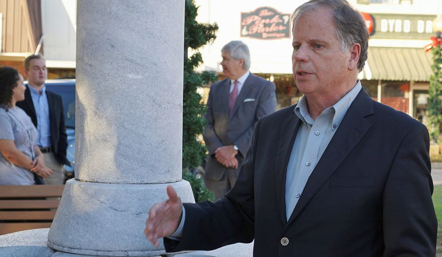 Alabama Democratic Senate candidate Doug Jones, buoyed by sexual misconduct accusations against Republican opponent Roy Moore, is within striking distance of making history three weeks out from the Dec. 12 special election. (Associated Press/File)