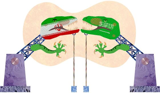 Conflict Between Oil Producers in Middle East Illustration by Greg Groesch/The Washington Times