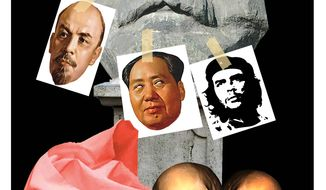 Illustration on the deadly history of socialism/communism by Alexander Hunter/The Washington Times