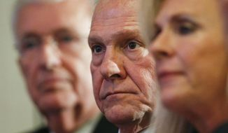 U.S. Senate candidate Roy Moore's campaign strategy centers on directing attention away from the sexual harassment claims about him and toward Senate Majority Leader Mitch McConnell and other Republican officials calling for him to step aside. (Associated Press/File)