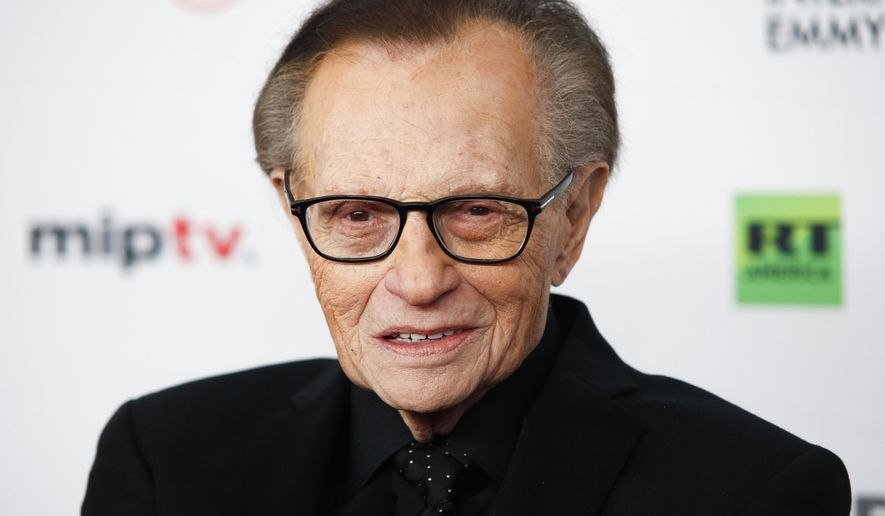 Larry King attends the 45th International Emmy Awards at ...