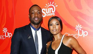 NBA all star Dwyane Wade's divorce from Siohvaughn Funches was allegedly provoked by his budding relationship with his now wife actress Gabrielle Union. (Associated Press) **FILE**