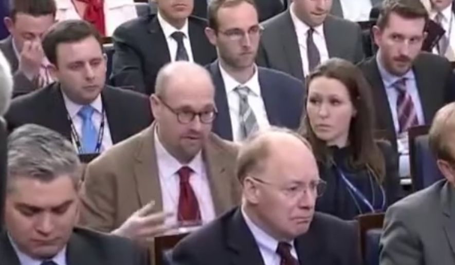 The New York Times announced Monday that it was suspending White House correspondent Glenn Thrush over allegations of sexual misconduct. (YouTube)