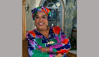 "This October 1991 file photo shows actress Della Reese. Reese, the actress and gospel-influenced singer who in middle age found her greatest fame as Tess, the wise angel in the long-running television drama ""Touched by an Angel,"" died at age 86. A family representative released a statement Monday that Reese died peacefully Sunday, Nov. 19, 2017, in California. No cause of death or additional details were provided. (AP Photo/Douglas C. Pizac, File)"