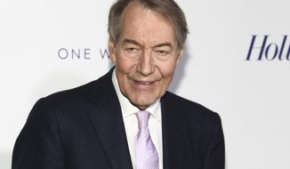FILE - In this April 13, 2017 file photo, Charlie Rose attends The Hollywood Reporter's 35 Most Powerful People in Media party in New York. The Washington Post says eight women have accused television host Charlie Rose of multiple unwanted sexual advances and inappropriate behavior. CBS News suspended Charlie Rose and PBS is to halt production and distribution of a show following the sexual harassment report. (Photo by Andy Kropa/Invision/AP, File)