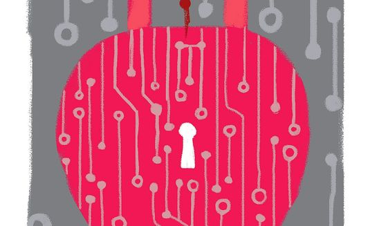 Illustration on cybersecurity by Linas Garsys/The Washington Times