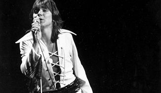 Teen pop idol David Cassidy is performing at New York City's Madison Square Garden, on March 11, 1972. (AP Photo)