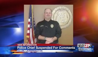 Killen, Alabama, Police Chief Bryan Hammond has been suspended without pay after he joked on Facebook that U.S. Senate candidate Doug Jones groped him on a camping trip. (WAAY 31)