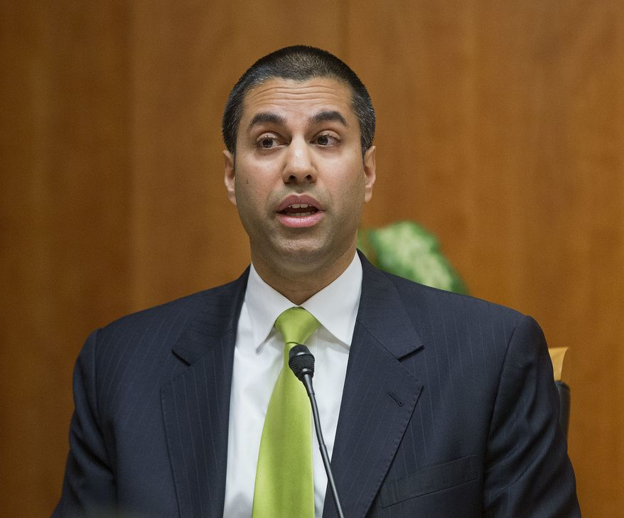 """""""Under my proposal, the federal government will stop micromanaging the internet,"""" said Federal Communication Commission Commissioner Ajit Pai. (Associated Press/File)"""
