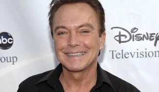 "FILE - In this Aug. 8, 2009, file photo, actor-singer David Cassidy arrives at the ABC Disney Summer press tour party in Pasadena, Calif. Former teen idol Cassidy of ""The Partridge Family"" fame has died at age 67, publicist says Tuesday, Nov. 21, 2017. (AP Photo/Dan Steinberg, File)"