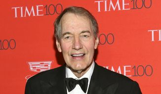 In this April 26, 2016, file photo, Charlie Rose attends the TIME 100 Gala, celebrating the 100 most influential people in the world in New York. The Washington Post says eight women have accused Rose of multiple unwanted sexual advances and inappropriate behavior. CBS News suspended Rose and PBS is to halt production and distribution of a show following the sexual harassment report. (Photo by Evan Agostini/Invision/AP, File)