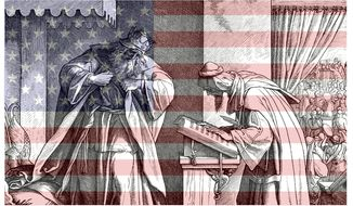 Illustration on King Josiah hearing the reading of the law    The Washington Times