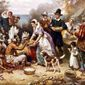 """The First Thanksgiving"" by Jean Louis Gerome Ferris."