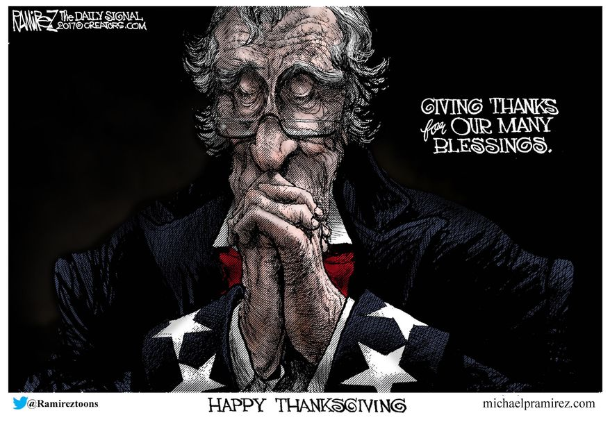 Illustration by Michael Ramirez for Creators Syndicate)