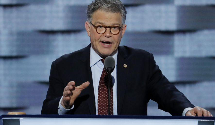 Two women are alleging that Al Franken touched their buttocks during events for his first campaign for Senate. (AP Photo/J. Scott Applewhite, File)