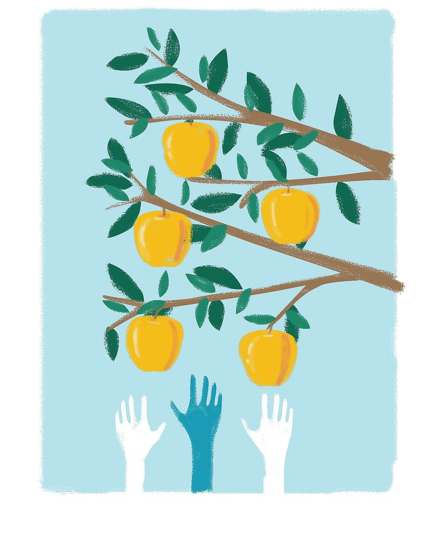 Illustration on access to good education by Linas Garsys/The Washington Times