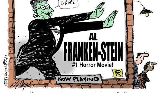 Cartoon on Al Franken by Henry Payne/Universal Press Syndicate