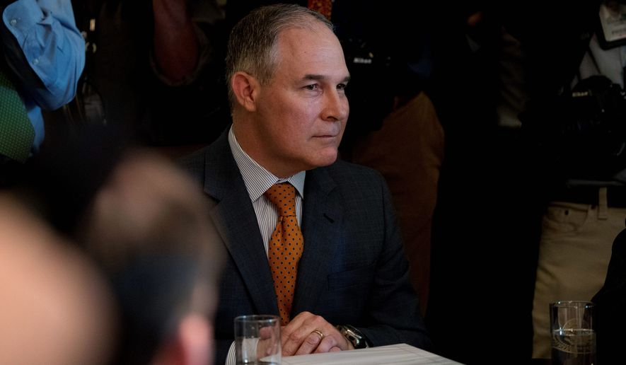 """Whatever science comes out of EPA shouldn't be political science,"" said Environmental Protection Agency Administrator Scott Pruitt late last month. (Associated Press)"