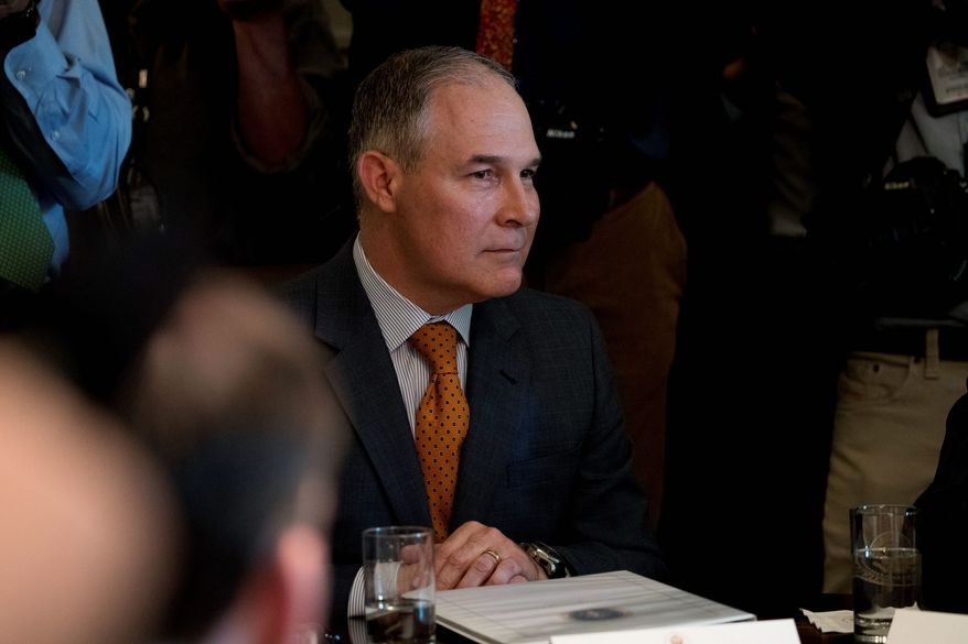 """""""Whatever science comes out of EPA shouldn't be political science,"""" said Environmental Protection Agency Administrator Scott Pruitt late last month. (Associated Press)"""
