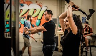 Axe throwing has moved from a rural tradition in Canada to a growing trend among young urbanites, with locations in 10 cities across the U.S. and the latest opening in the District of Columbia. (Bad Axe Throwing)