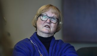 Justice Justice Christine Durham speaks during an interview at the Matheson Courthouse in Salt Lake City, on Thursday, Nov. 16, 2017.  After 35 years as a Supreme Court justice — she's the first woman in the state to hold such an appointment — the 72-year-old retired this week.  (Scott Sommerdorf/The Salt Lake Tribune via AP)