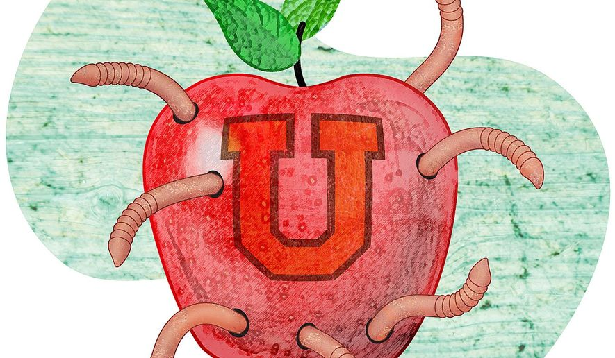 Corruption in Colleges Illustration by Greg Groesch/The Washington Times