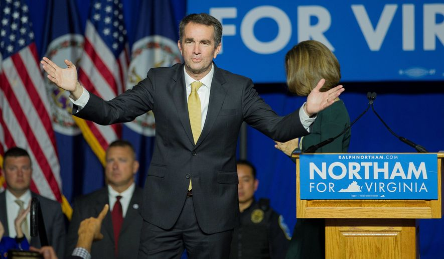 Virginia Gov.-elect Ralph Northam won a landslide victory earlier this month. Party activists are hopeful that they can erode the GOP advantage ahead of the census. (Associated Press)