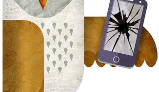 Dependent on Electronic Device Illustration by Greg Groesch/The Washington Times