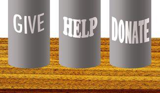 Illustration on bad charities by Alexander Hunter/The Washington Times