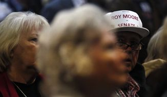 Older supporters of Senate candidate Roy Moore are more likely to say the sexual misconduct evidence against him has been lacking. (Associated Press/File)