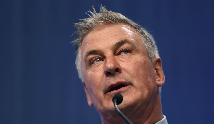 Actor Alec Baldwin speaks during the Iowa Democratic Party's Fall Gala, Monday, Nov. 27, 2017, in Des Moines, Iowa. (AP Photo/Charlie Neibergall) ** FILE **