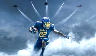 The U.S. Naval Academy will play its Dec. 9 game against West Point in uniforms inspired by the iconic Blue Angels. (Image: U.S. Navy)