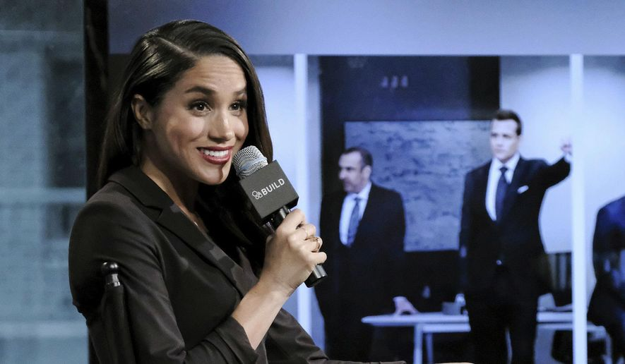 """In this Thursday, March 17, 2016, file photo, actress Meghan Markle participates in AOL's BUILD Speaker Series to discuss her role on the television show, """"Suits"""", in New York. Palace officials announced Monday Nov. 27, 2017, that Britain's Prince Harry is engaged to Meghan Markle, confirming months of rumors that the couple was close to tying the knot. (Photo by Evan Agostini/Invision/AP, File)"""