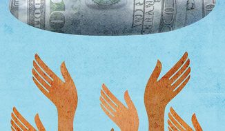 Reaching for a Better Life Illustration by Greg Groesch/The Washington Times