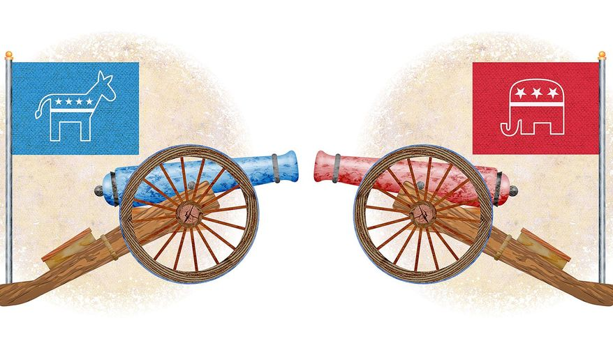 The Next Civil War Illustration by Greg Groesch/The Washington Times